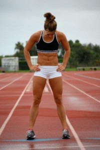 I'm pretty sure she looks like this when she races.... theathleticbuild.com